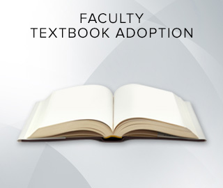 Picture of an open book. Click to learn more about Faculty Textbook Adoption